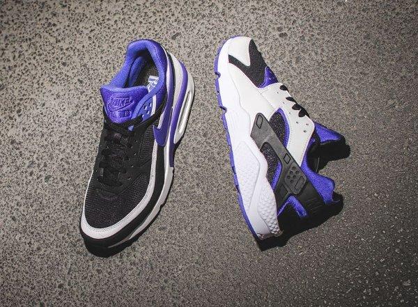 basket Nike Air Huarache x Air Max BW Persian Violet pas cher (2)