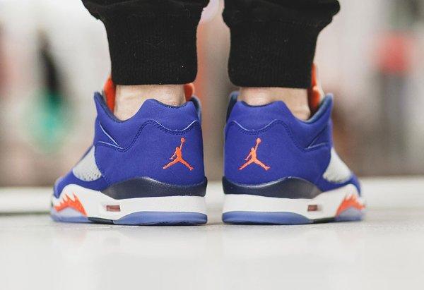 basket Nike Air Jordan V Retro Low Cavs Royal Blue (2)