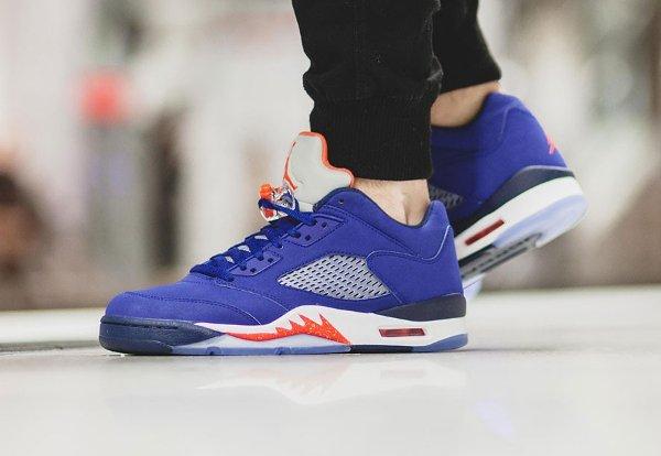 basket Nike Air Jordan V Retro Low Cavs Royal Blue (3)
