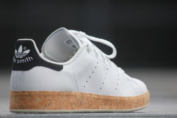 chaussure Adidas Originals Stan Smith Luxe W White Black en liège (femme) (2)