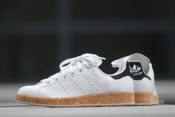 chaussure Adidas Originals Stan Smith Luxe W White Black en liège (femme) (5)