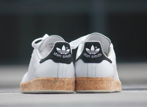 chaussure Adidas Originals Stan Smith Luxe W White Black en liège (femme) (6)
