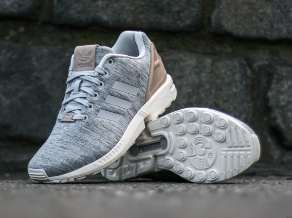 chaussure Adidas Originals ZX Flux Fleece Solid Grey homme (1)