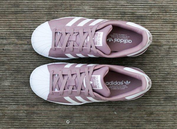 chaussure Adidas Superstar W Blanch Purple (6)