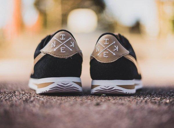 chaussure Nike Cortez Basic Premium Baseball Black Desert Camo quickstrike (3)