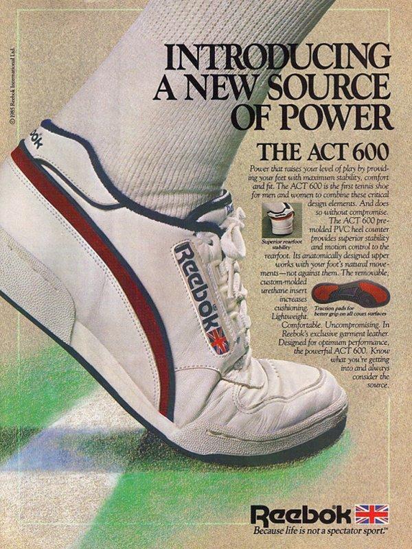 publicité Reebok ACT 600 85 Vintage OG Chalk Paperwhite