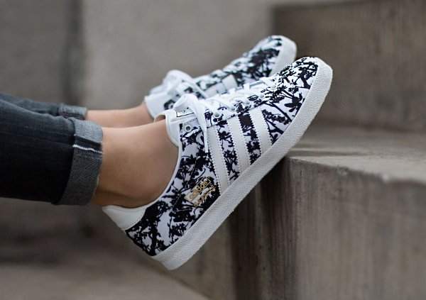 Adidas Gazelle OG W Print floral Black White (4)