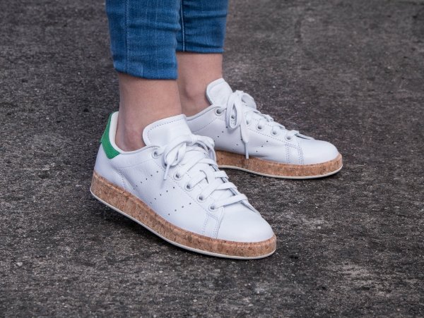 Adidas Stan Smith Luxe W OG Cork White Green