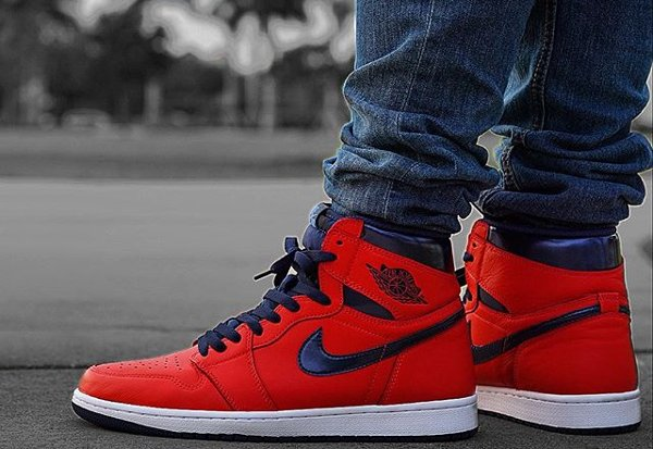 Basket Air Jordan 1 Retro High OG David Letterman Light Crimson (3)