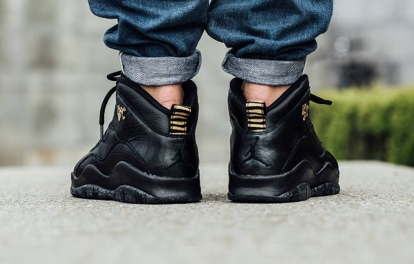 Basket Air Jordan 10 Retro New York Black Grey Gold (City Pack 2016) (2)