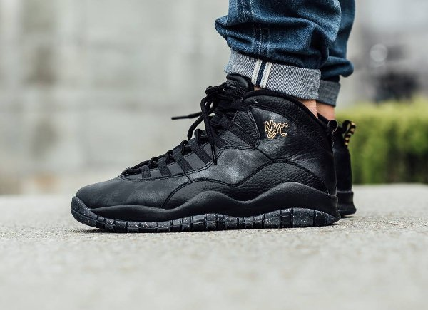 Basket Air Jordan 10 Retro New York Black Grey Gold (City Pack 2016) (3)