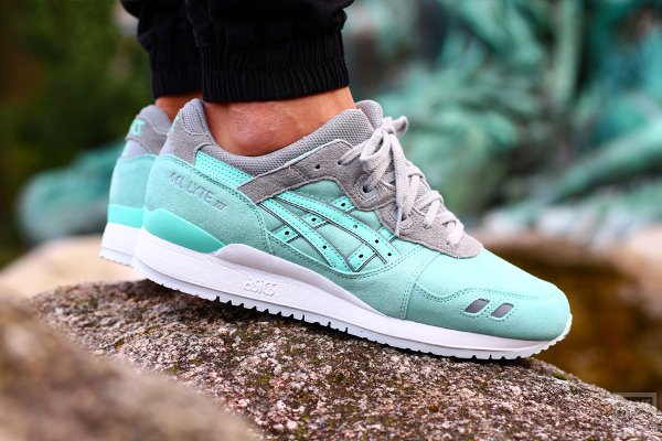 Basket Asics Gel Lyte 3 Suede Two Tone Light Mint pas cher (1)