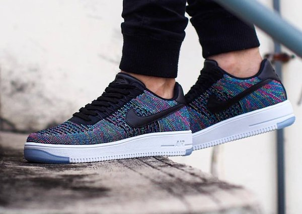 Basket Nike Air Force 1 Ultra Flyknit Low Multicolor Blue Lagoon pas cher (3)