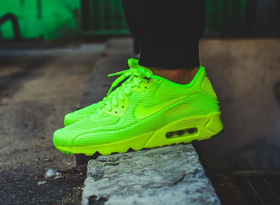 Basket Nike Air Max 90 Ultra Breathe Volt (fluo)