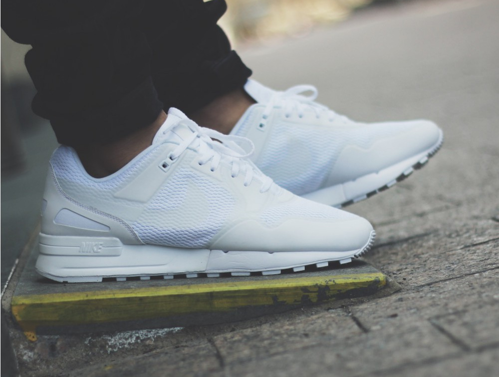 Basket Nike Air Pegasus 89 NS Triple White (blanche) pas cher (5)