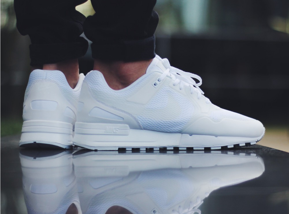 Basket Nike Air Pegasus 89 NS Triple White (blanche) pas cher (6)