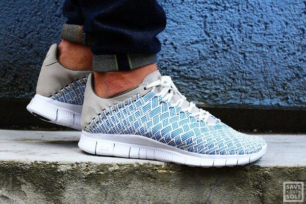 Basket Nike Free Inneva Woven Fountain Blue pas cher (1)