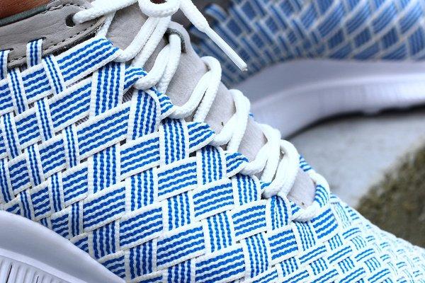 Basket Nike Free Inneva Woven Fountain Blue pas cher (4)