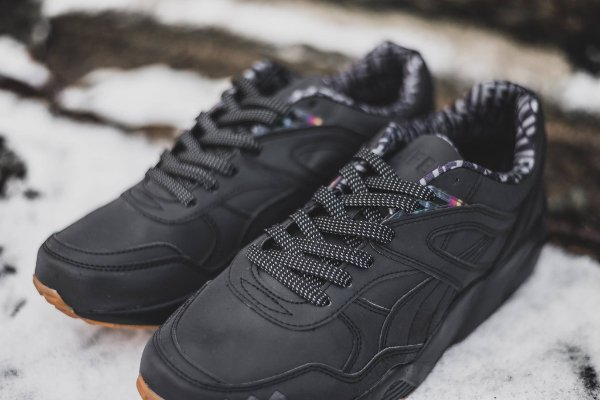 Chaussure Alife NYC x Puma R698 noire réfléchissante (2)