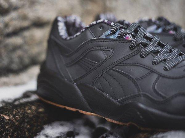 Chaussure Alife NYC x Puma R698 noire réfléchissante (3)