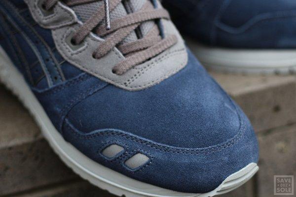 Chaussure Asics Gel Lyte III en daim bleu nuit (3)