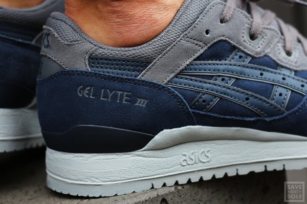 Chaussure Asics Gel Lyte III en daim bleu nuit (4)