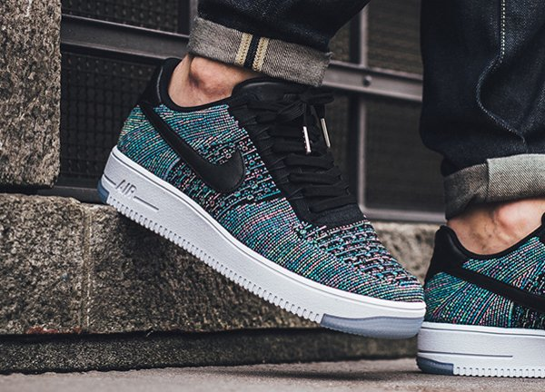 finest selection d367e 4a58e ... where to buy chaussure nike air force 1 flyknit low blue lagoon 5 4d024  5f3fe