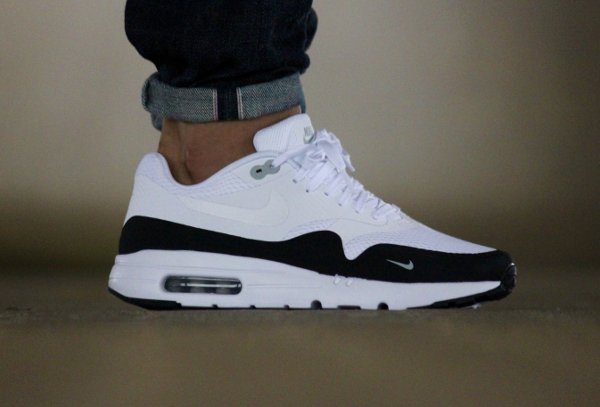 factory outlet reputable site order online Nike Air Max 1 Ultra Essential Mini Swoosh Black/White & Blue