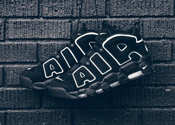 Chaussure Nike Air More Uptempo OG noire retro 2016 pas cher (8)