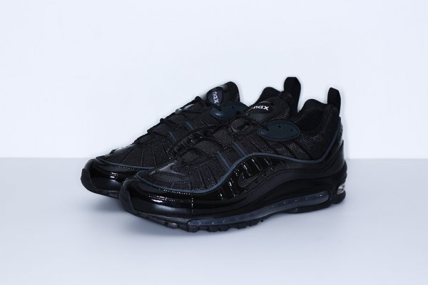 Chaussure Supreme x Nike Air Max 98 Black Black-Black (1)