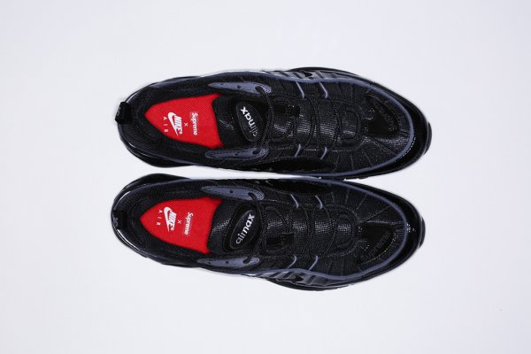 Chaussure Supreme x Nike Air Max 98 Black Black-Black (3)