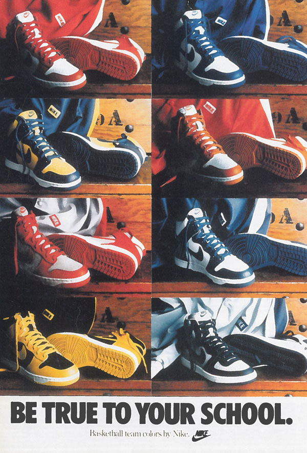 affiche be true to your school Nike Dunk 1985