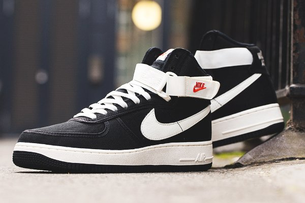 Nike Air Force 1 Hi Retro 'Black/Sail' (Quickstrike)