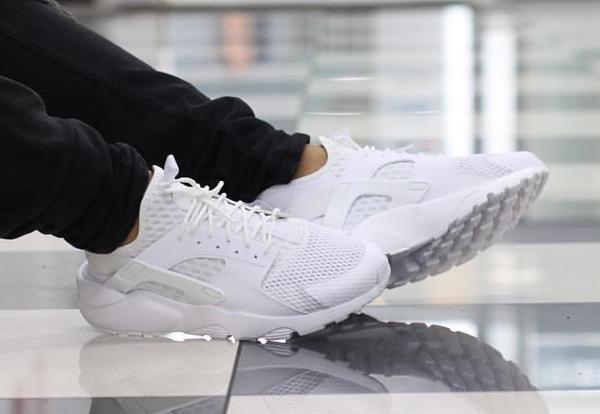 release date: 55b8d c07c3 Nike Air Huarache Run Ultra BR Triple White & Black
