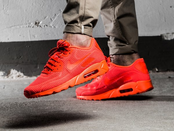 basket Nike Air Max 90 Ultra Breathe Total Crimson (rouge) (1)