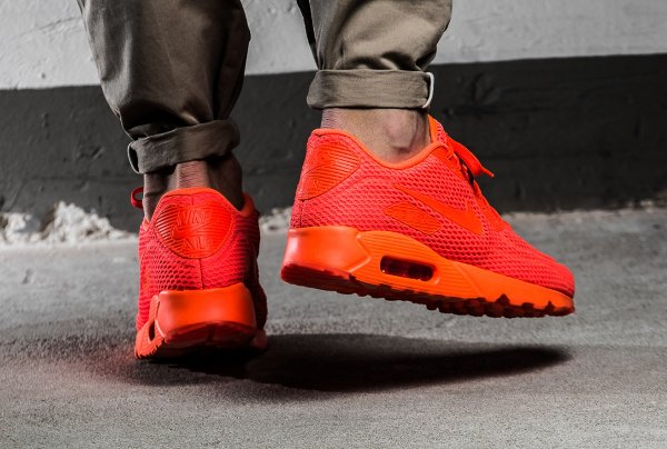 basket Nike Air Max 90 Ultra Breathe Total Crimson (rouge) (2)