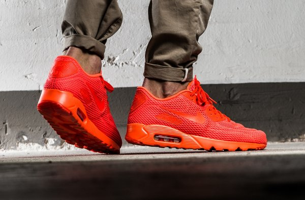 basket Nike Air Max 90 Ultra Breathe Total Crimson (rouge) (3)