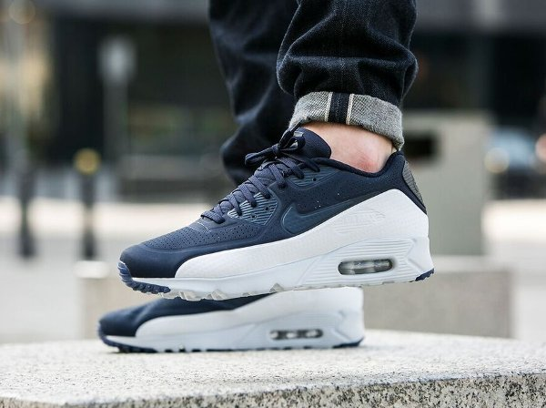 innovative design c740b 3eee1 basket Nike Air Max 90 Ultra Moire Obsidian Pure Platinum pas cher (1)