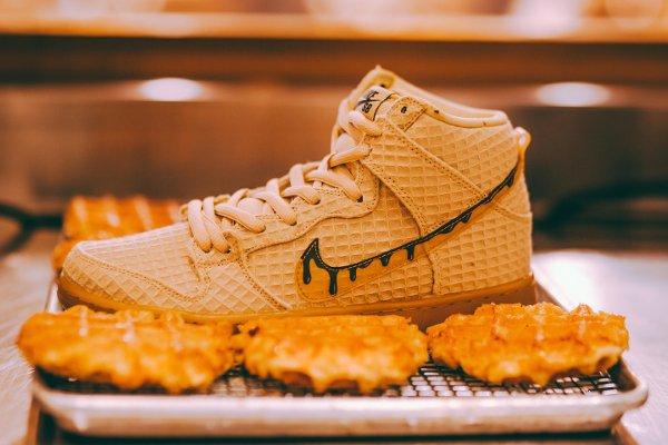 basket Nike Dunk High Pro SB PRM Waffle Flat Gold Star QS pas cher (1)