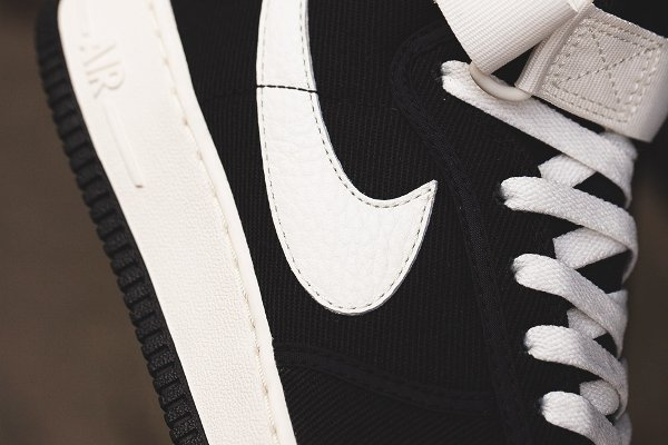 chaussure Nike Air Force 1 Hi Retro Black Sail (5)