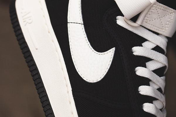 Nike Air Force 1 High Retro Canvas OG Black Sail QS