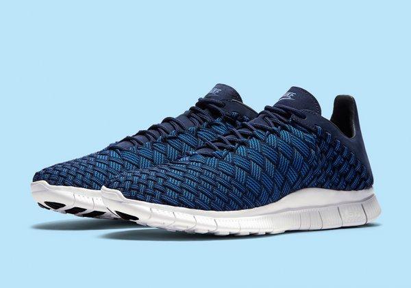 chaussure Nike Free Inneva Woven (Foutain Blue Midnight Navy Summit White) (1)