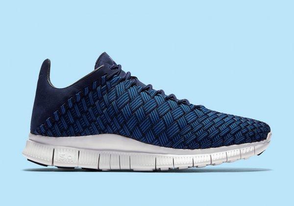 chaussure Nike Free Inneva Woven (Foutain Blue Midnight Navy Summit White) (2)