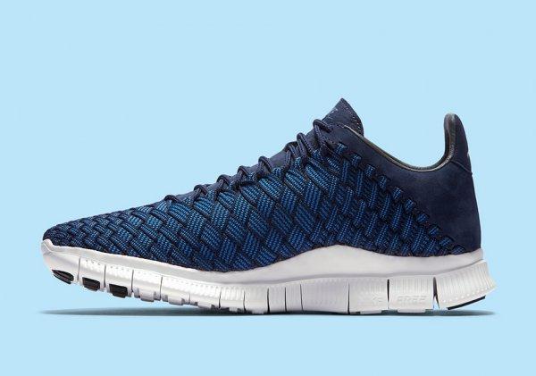 chaussure Nike Free Inneva Woven (Foutain Blue Midnight Navy Summit White) (3)