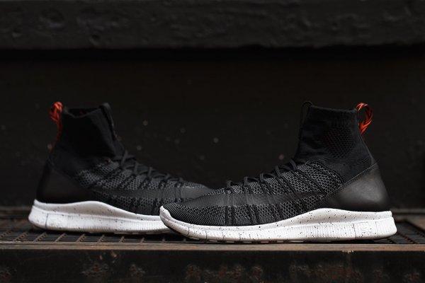 chaussure Nike Free Mercurial Superfly FC Black Grey Team Orange (5)