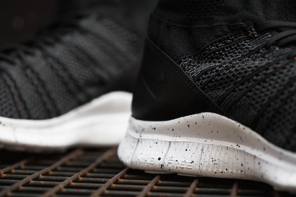 chaussure Nike Free Mercurial Superfly FC Black Grey Team Orange (7)