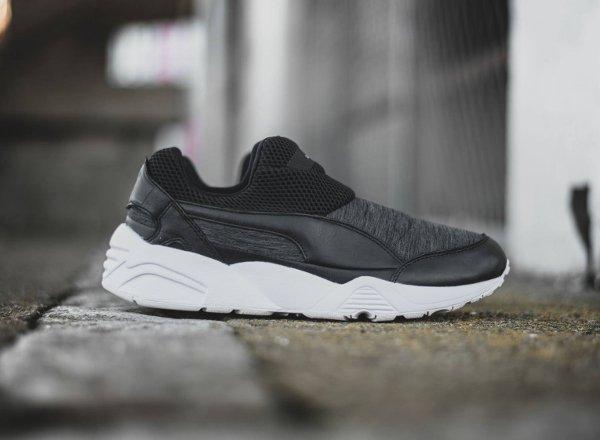 chaussure Stampd x Puma Trinomic Sock sans disc grise et noire (4)