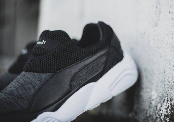 chaussure Stampd x Puma Trinomic Sock sans disc grise et noire (6)