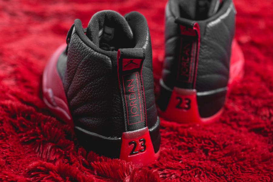 Air Jordan 12 Retro Black Varsity Red (5)