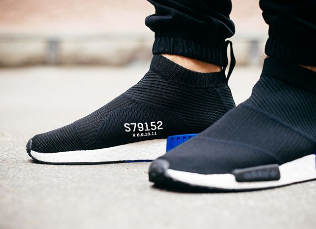 Adidas NMD City Sock Primeknit 'S79152' Core Black Lush Blue